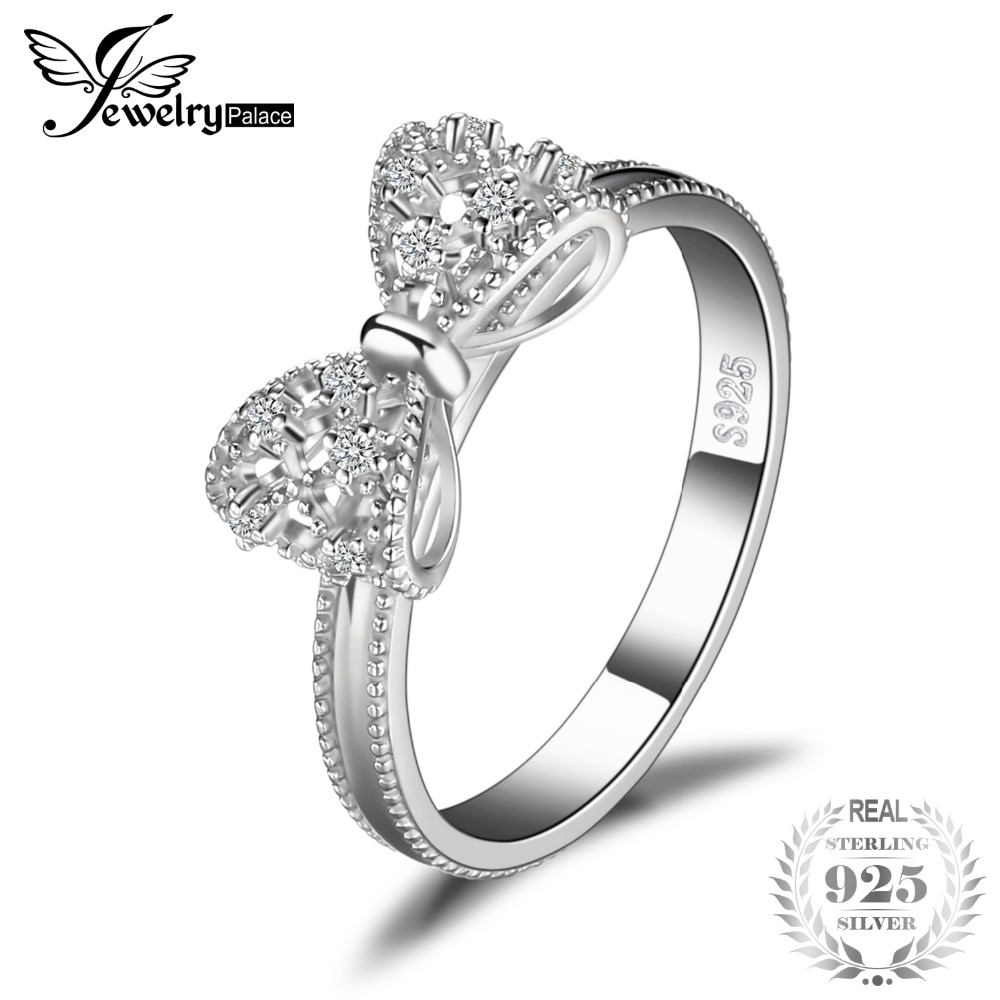 Jewelrypalace Bow Anniversary Wedding Ring For Women Soild 925